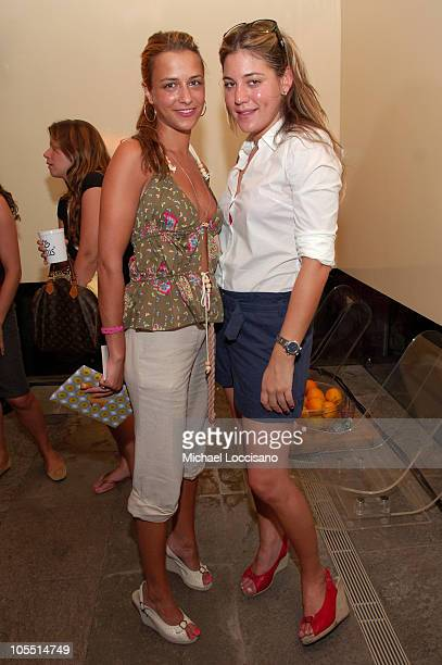 Charlotte Ronson and Dani Stahl during Olympus Fashion Week Spring 2006 Charlotte Ronson at Hotel QT in New York City New York United States