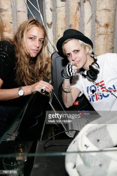 Charlotte Ronson and DJ Samantha Ronson attend Charlotte Ronson Fall 2008 after party during MercedesBenz Fashion Week at Butter on February 4 2008...