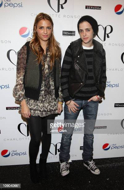 Charlotte Ronson and Samantha Ronson attend the Charlotte Ronson Fall 2011 Fashion show presented by Diet Pepsi during MercedesBenz Fashion Week at...
