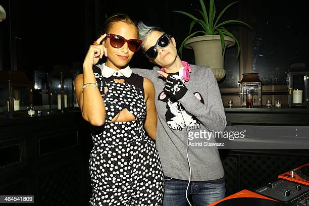 Charlotte Ronson and Samantha Ronson attend the Council Of Fashion Designers Of America's 4th annual design series for Vogue eyewear event presented...