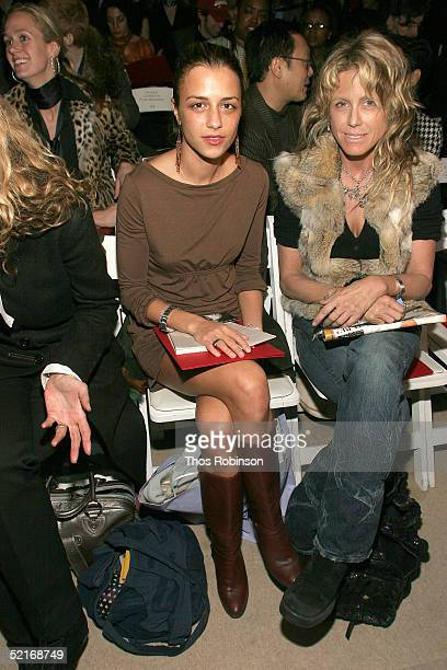 Charlotte Ronson and Tracy Ross attend the Vivienne Tam Fall 2005 fashion show during the Olympus Fashion Week at Bryant Park February 9 2005 in New...