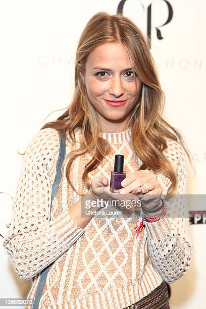 Charlotte Ronson backstage at the Charlotte Ronson Fall 2012 fashion show during MercedesBenz Fashion Week at The Stage at Lincoln Center on February...