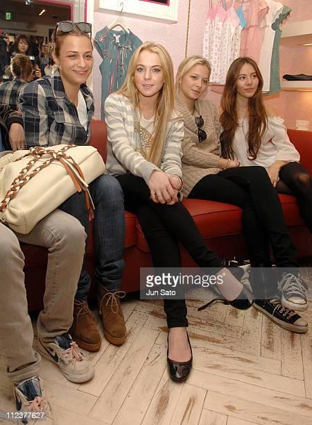 Charlotte Ronson Lindsay Lohan Annabel Dexter Jones and Jessica Michibata