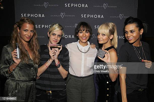 Charlotte Ronson Samantha Ronson Rashida Jones Nicole Richie and Kidada Jones attend a dinner celebrating the launch of Charlotte Ronson Beauty...
