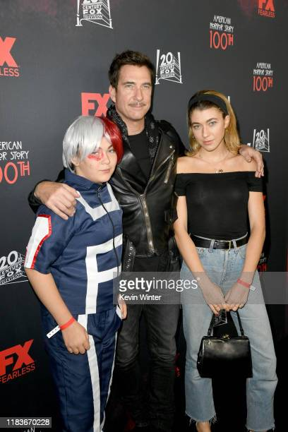 Charlotte Rose McDermott Dylan McDermott and Colette Rose McDermott attend FX's American Horror Story 100th Episode Celebration at Hollywood Forever...