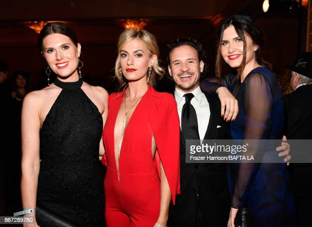 Charlotte Rothwell Marah Fairclough guest and Amber Hodgkiss attend the 2017 AMD British Academy Britannia Awards Presented by American Airlines And...