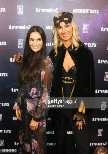 Charlotte Russe and Lady Victoria Hervey at treats Magazine's 7th Halloween Party in Partnership with RollsRoyce Black Badge Absolut Elyx Perrier...