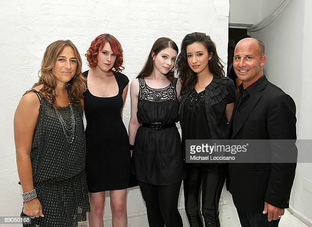 Charlotte Russe President and CMO Emilia Fabricant actresses Rumer Willis Michelle Trachtenberg and Christian Serratos and Charlotte Russe CEO John...