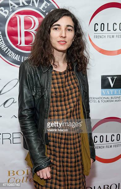 Charlotte Sanson arrives at COLCOA French Film Festival Barnes After Party at Heritage Fine Wines on April 24 2015 in Beverly Hills California