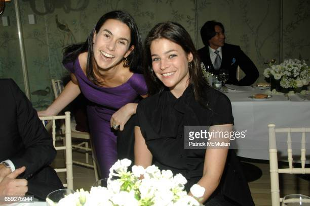 Charlotte Sarkozy and Julia RestoinRoitfeld attend BERGDORF GOODMAN DELPHINE ARNAULTGANCIA Luncheon for CHRISTIAN DIOR Spring 2009 Collection at...