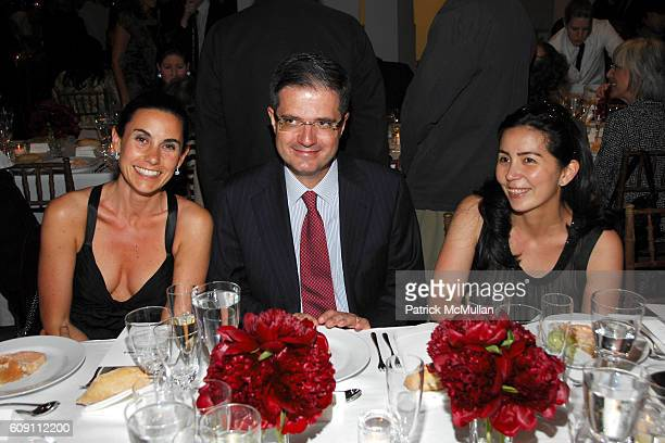 Charlotte Sarkozy Consul Francois Delattre and Marean Pompidou attend Dinner for RICHARD SERRA SCULPTURE FORTY YEARS Hosted by MoMA and LVMH at The...