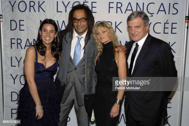Charlotte Sarkozy Yannick Noah Isabelle Camus and Sidney Toledano attend LYCEE FRANCAIS DE NEW YORK Celebrates its 10th Gala at 7 World Trade Center...