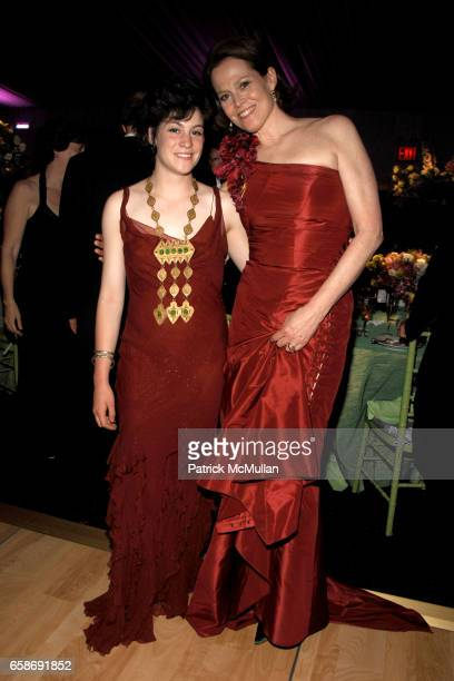 Charlotte Simpson and Sigourney Weaver attend NEW YORK BOTANICAL GARDEN 2009 Conservatory Ball at New York Botanical Garden on June 4 2009 in New...