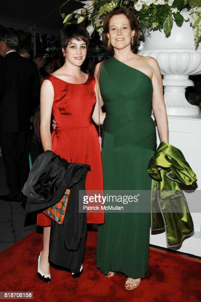 Charlotte Simpson and Sigourney Weaver attend THE CONSERVATORY BALL at The New York Botanical Garden on June 3 2010 in New York City