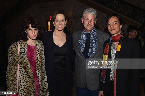 Charlotte Simpson Sigourney Weaver Jim Simpson and Federic Tcheng attends the Dior And I NY Premiere AfterParty on April 7 2015 in New York City