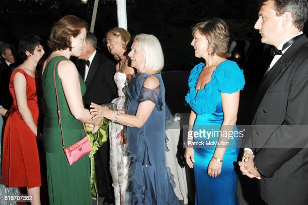 Charlotte Simpson Sigourney Weaver Maureen Chilton Friederike Biggs Caroline Williamson and Emmanuel Perrin attend THE CONSERVATORY BALL at The New...