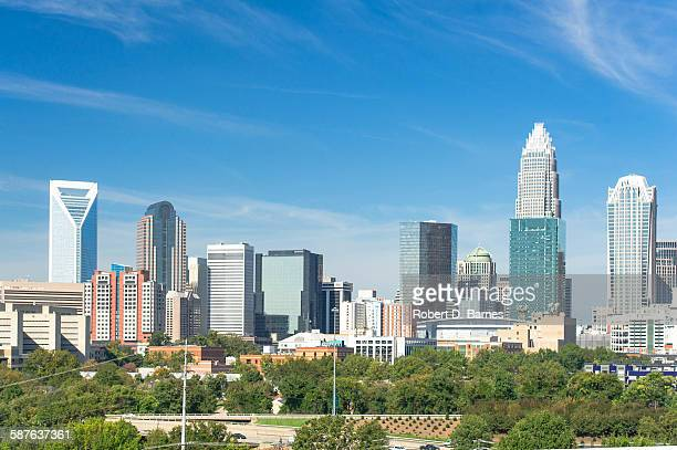 charlotte skyline - charlotte north carolina stock photos and pictures