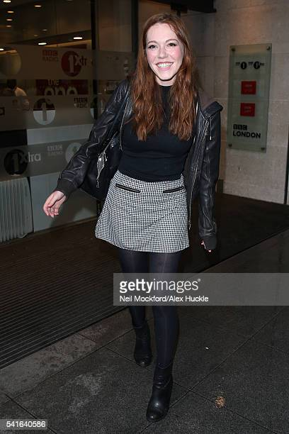 Charlotte Spencer seen at BBC Radio One on June 20 2016 in London England