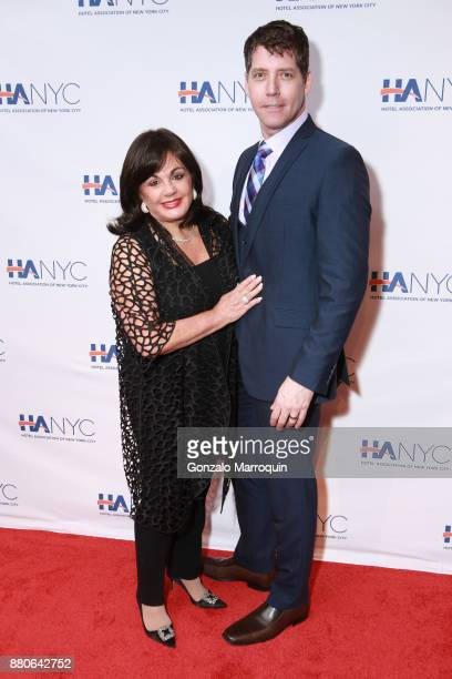 Charlotte St Martin and James Barbour during the Hotel Association of New York City hosts The Red Carpet Hospitality Gala HANYC's Annual Dinner/Dance...