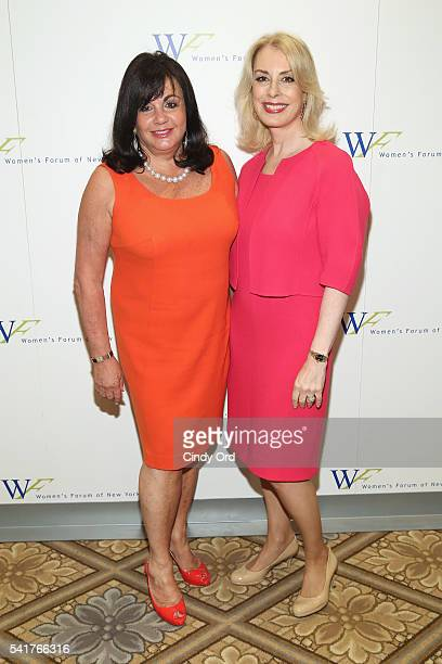 Charlotte St. Martin and President of the Women's Forum of New York Carolyn Carter Plaza Hotel on June 20, 2016 in New York City.