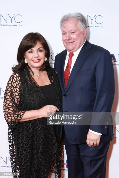 Charlotte St Martin and Robert E Wankel during the Hotel Association of New York City hosts 'The Red Carpet Hospitality Gala' HANYC's Annual...
