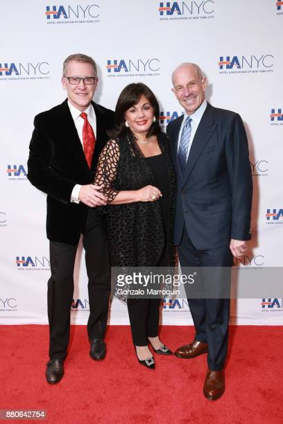 Charlotte St Martin Randy Gantenbein and Jonathan Tisch during the Hotel Association of New York City hosts 'The Red Carpet Hospitality Gala' HANYC's...