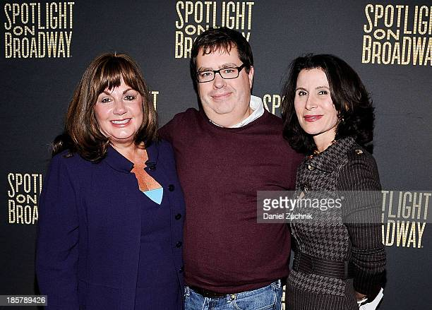 Charlotte St Martin Terrence Gray and Katherine Oliver attend The NYTVF with the New York City Mayor's Office of Media and Entertainment toasts the...