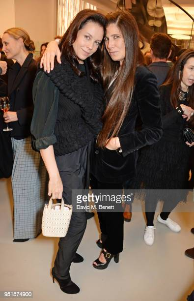 Charlotte Stockdale and Elizabeth Saltzman attend the opening of Maison Alaia on New Bond Street on April 26 2018 in London England