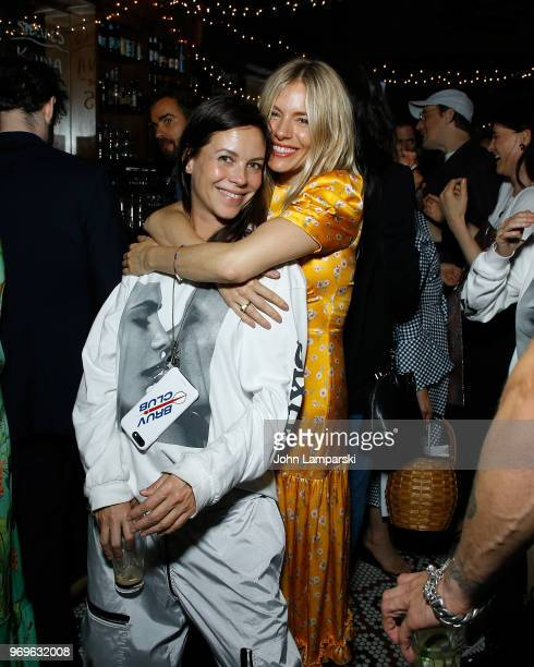 Charlotte Stockdale and Sienna Miller attend CHAOS x LOVE magazine party on June 7 2018 in New York City