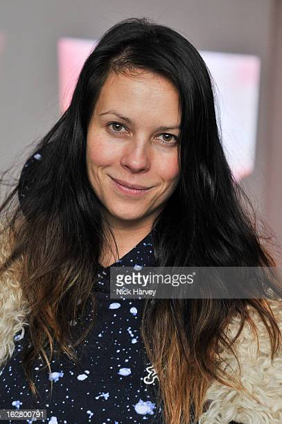 Charlotte Stockdale attends the launch of Dinos Chapman's album 'Luftbobler' at The Vinyl Factory Gallery on February 27 2013 in London England