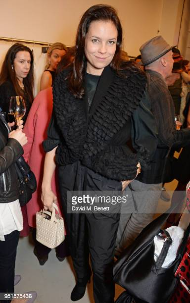 Charlotte Stockdale attends the opening of Maison Alaia on New Bond Street on April 26 2018 in London England