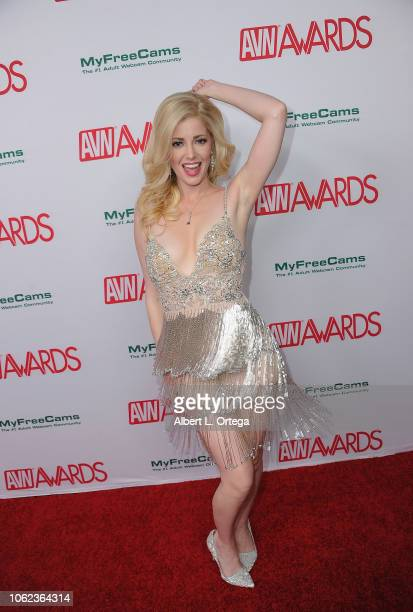 Charlotte Stokely arrives for the 2019 AVN Awards Nominations Party held at Avalon on November 15 2018 in Hollywood California
