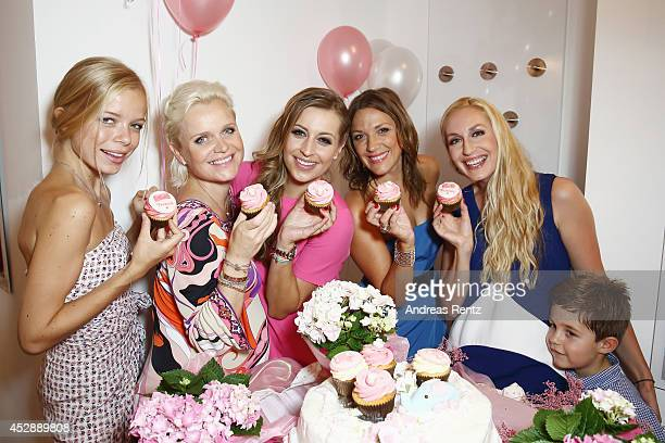 Charlotte Sturm Barbara Sturm Verena Kerth Simone Ballack and ElnaMargret zu Bentheim with Jonathan attend the reception 'Baby shower for Barbara...