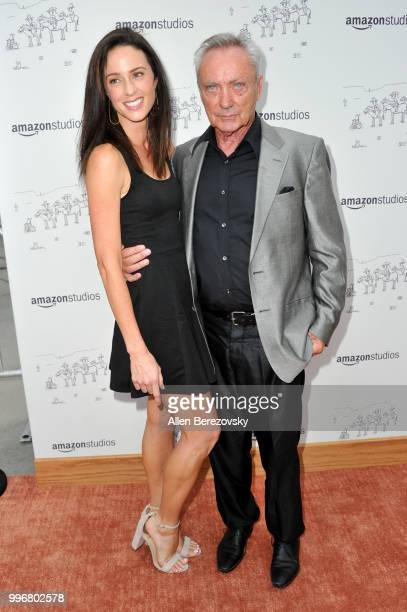 Charlotte Taschen and Udo Kier attend Amazon Studios Premiere of Don't Worry He Wont Get Far On Foot at ArcLight Hollywood on July 11 2018 in...