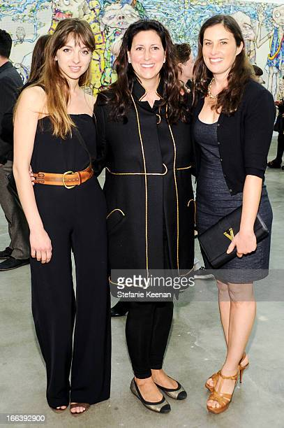 Charlotte Taschen Lauren Taschen and Jennifer Guidi attend Takashi Murakami Private Preview And Dinner At Blum Poe on April 11 2013 in Los Angeles...