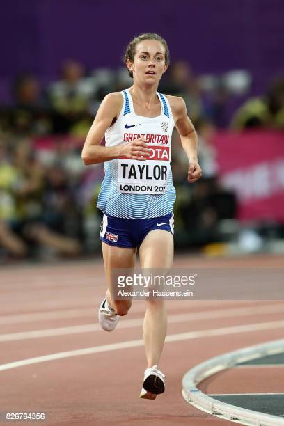 Charlotte Taylor of Great Britain competes in the Women's 10000 metres during day two of the 16th IAAF World Athletics Championships London 2017 at...