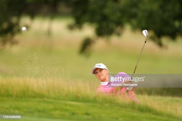 Charlotte Thompson in action during The Rose Ladies Series at Buckinghamshire Golf Club on July 02, 2020 in Denham, England.
