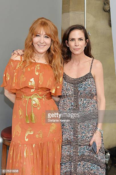 Charlotte Tilbury and Cristina Ehrlich attend NETAPORTER Celebrates Women Behind The Lens at Chateau Marmont on February 26 2016 in Los Angeles...