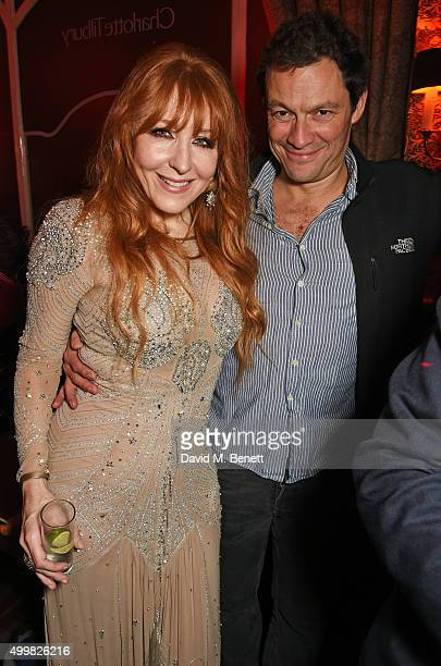 Charlotte Tilbury and Dominic West attend Charlotte Tilbury's naughty Christmas party celebrating the launch of Charlotte's new flagship beauty...