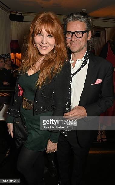 Charlotte Tilbury and George Waud attend the Moncler Freeze For Frieze Dinner Party at the Moncler Bond Street Boutique on October 7 2016 in London...