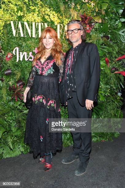 Charlotte Tilbury and George Waud attend Vanity Fair x Instagram Celebrate the New Class of Entertainers at Mel's Diner on Golden Globes Weekend at...