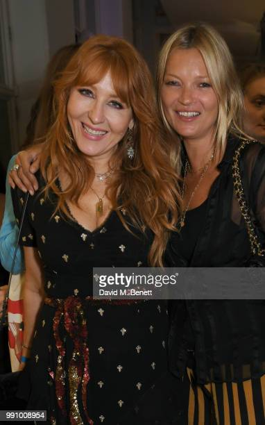 Charlotte Tilbury and Kate Moss attend adidas 'Prouder' A Fat Tony Project in aid of the Albert Kennedy Trust supporting LGBT youth at Heni Gallery...