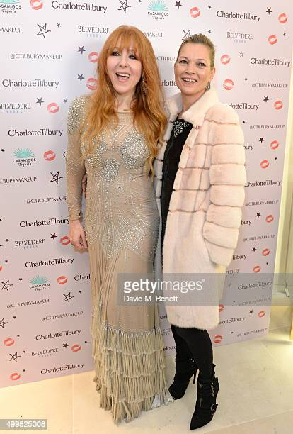 Charlotte Tilbury and Kate Moss attend Charlotte Tilbury's naughty Christmas party celebrating the launch of Charlotte's new flagship beauty boutique...