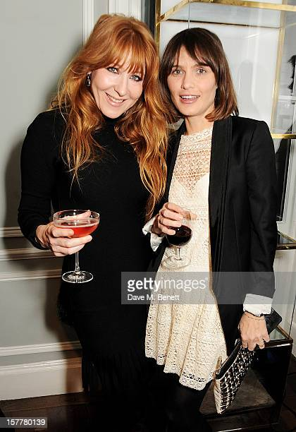 Charlotte Tilbury and Sheherazade Goldsmith attend the launch of Temperley London's Mayfair flagship store on December 6 2012 in London England