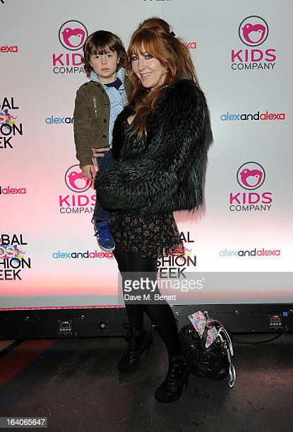 Charlotte Tilbury arrives for the Global Kids Fashion Week AW13 media and VIP show at The Freemason's Hall on March 19, 2013 in London, England.