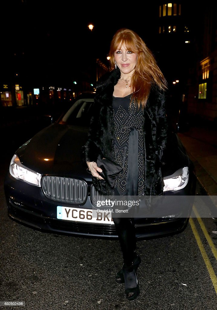 Charlotte Tilbury arrives in style in the luxury BMW 7 Series at the Debrett's 500 Gala, at BAFTA on January 23, 2017 in London, England.