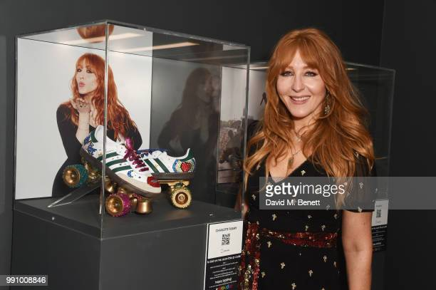 Charlotte Tilbury attends adidas 'Prouder' A Fat Tony Project in aid of the Albert Kennedy Trust supporting LGBT youth at Heni Gallery Soho on July 3...