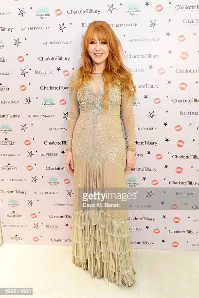 Charlotte Tilbury attends her naughty Christmas party celebrating the launch of her new flagship beauty boutique in Covent Garden on December 3 2015...