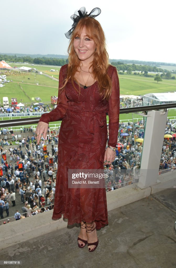 Charlotte Tilbury attends Ladies Day of the 2017 Investec Derby Festival at The Jockey Club's Epsom Downs Racecourse at Epsom Racecourse on June 2, 2017 in Epsom, England.
