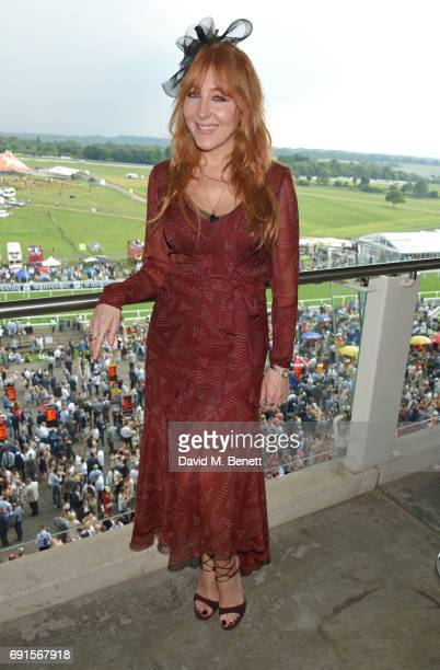 Charlotte Tilbury attends Ladies Day of the 2017 Investec Derby Festival at The Jockey Club's Epsom Downs Racecourse at Epsom Racecourse on June 2...